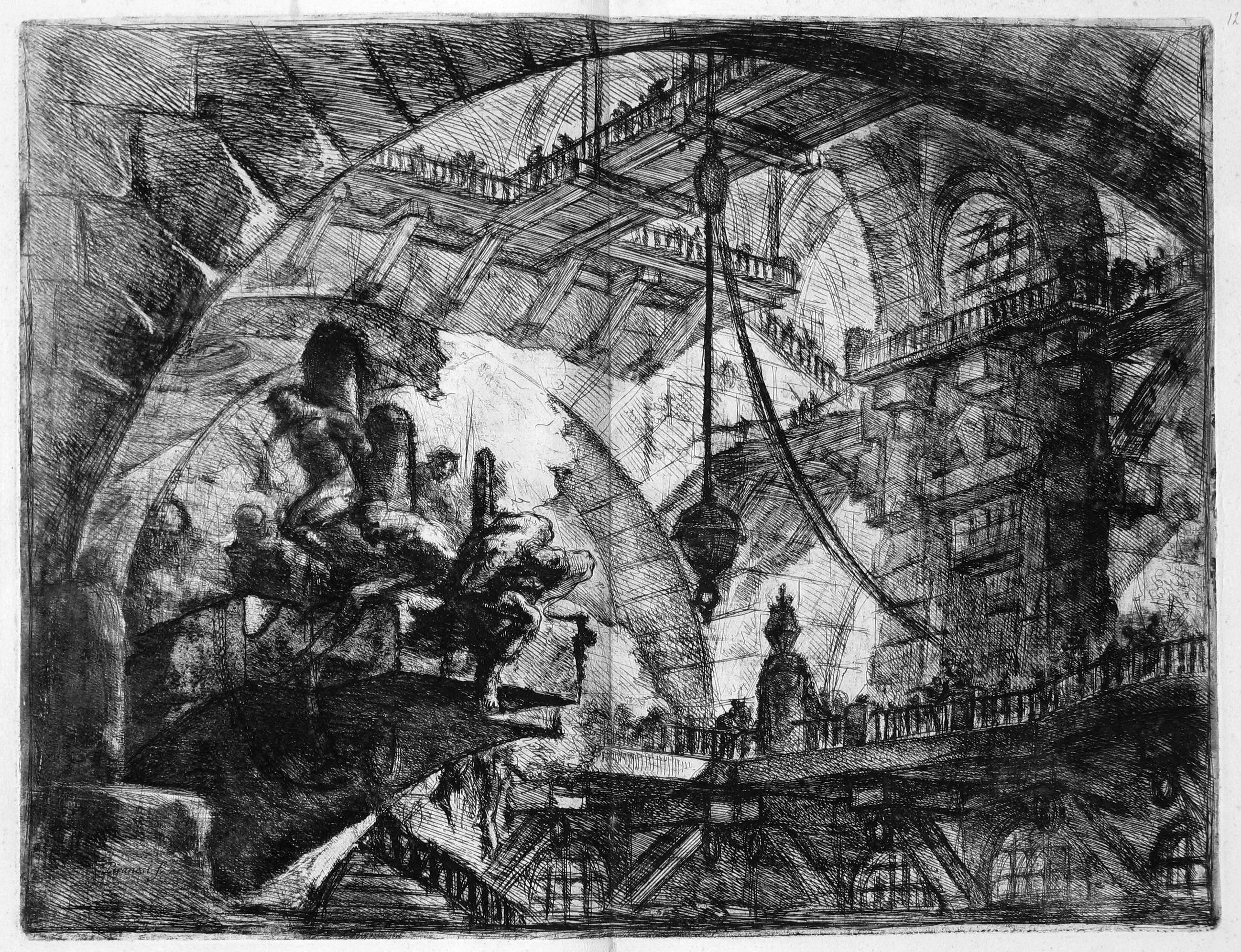 Piranesi Carceri d'Invenzione 08 The Staircase with Trophies