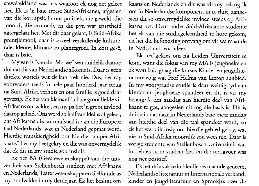 motivatiebrief universiteit leiden Zuid Afrika in Leiden motivatiebrief universiteit leiden